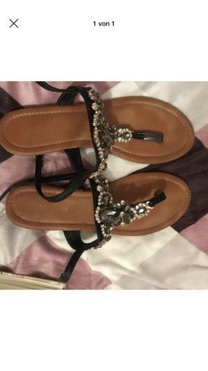 Wedge Sandals black-brown