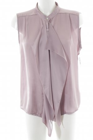 Mellow Peach Schluppen-Bluse blasslila Elegant