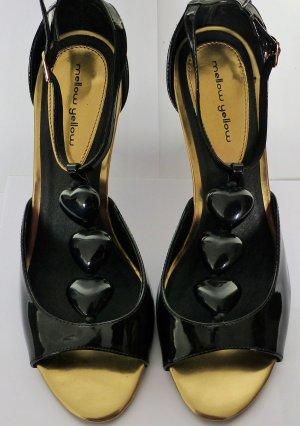 Mellow Yellow Sandaletten Gr. 38 schwarz Lack