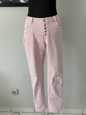 Melly & Co Jeans cigarette vieux rose