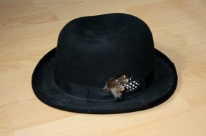 Bowler Hat black wool