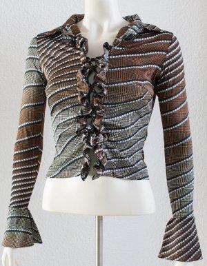 Melrose Ruche blouse bruin-zwart