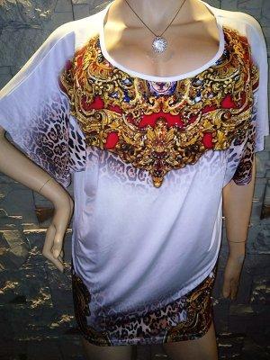 MELROSE Bluse Tunika in gr 38 Strass Print