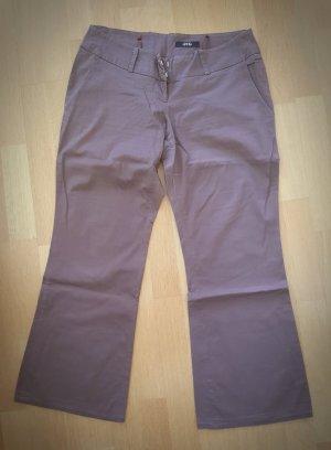 Melrose Pantalón de campana marrón oscuro Algodón