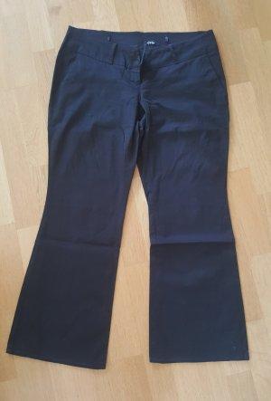 Melrose Pantalón de campana negro