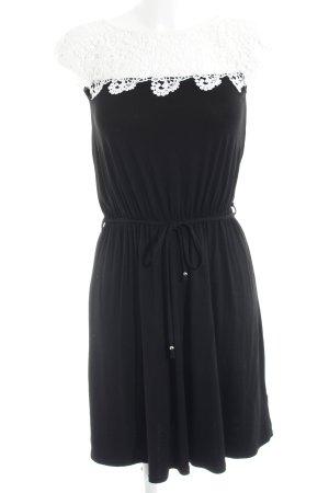 Melrose Jerseykleid schwarz-weiß Casual-Look