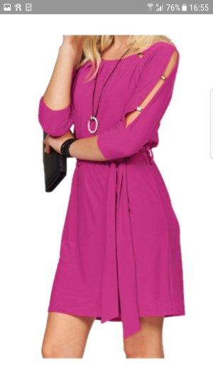 Melrose Vestido de tela de sudadera rojo frambuesa