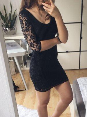 MELROSE Kleid Spitze Spitzenkleid figurbetont Gr. 34 Rückenauschnitt schwarz