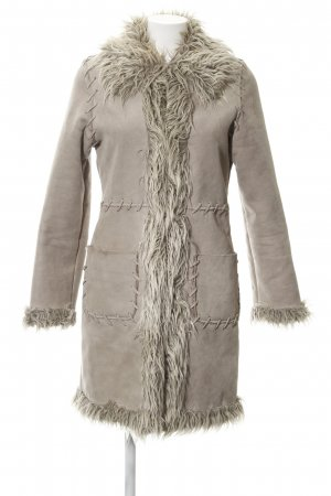 Melrose Abrigo de piel sintética gris claro look casual