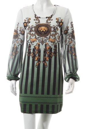 Melrose Langarmkleid abstraktes Muster extravaganter Stil