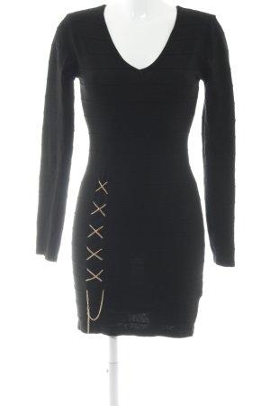 Melrose Langarmkleid schwarz Elegant