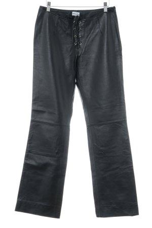 Melrose Lederhose schwarz extravaganter Stil