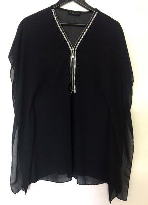Melrose Blusa tipo kimono negro Poliéster
