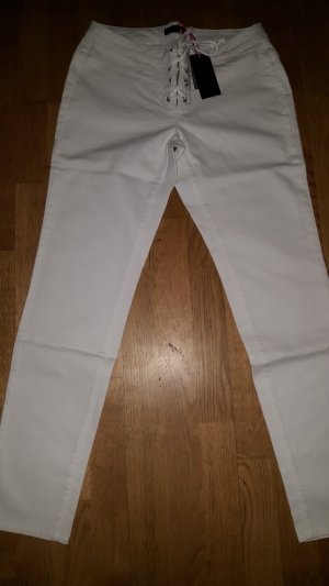 Melrose Lage taille broek wit