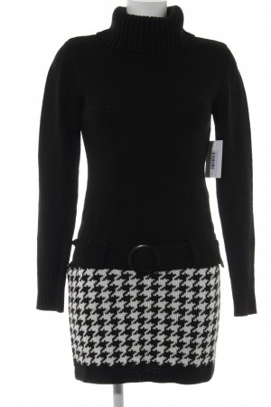 Melrose Turtleneck Sweater black-white Brit look