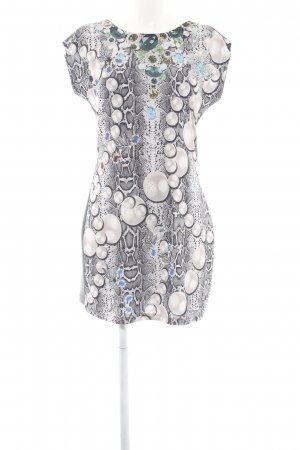 Melrose Tube Dress light grey animal pattern extravagant style