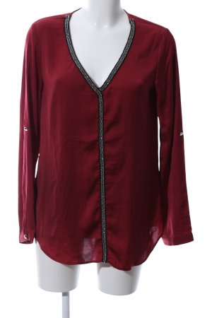 Melrose Blusa caída rojo elegante