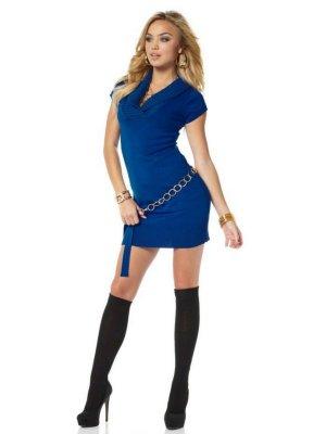 Melrose Strickkleid Blau Gr.M 36