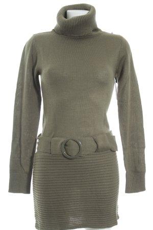 Melrose Vestido tejido gris verdoso look casual