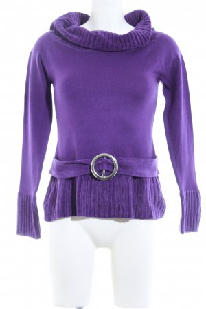 Melrose Strickpullover lila Casual-Look