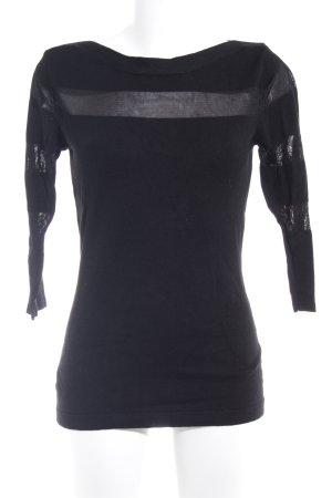 Melrose Strickpullover schwarz Casual-Look