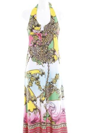 Melrose Vestido cruzado Mezcla de patrones estilo extravagante