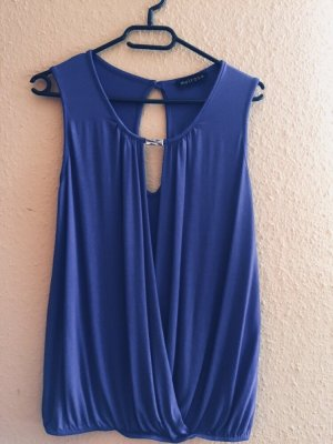 Melrose Camisa cruzada azul acero