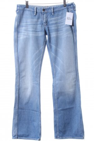 Meltin Pot Boot Cut Jeans hellblau-wollweiß Casual-Look