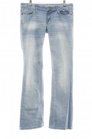 Meltin Pot Boot Cut Jeans kornblumenblau-hellbeige Washed-Optik
