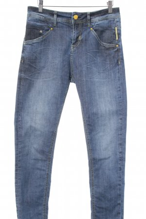 Meltin Pot Hoge taille jeans Webpatroon casual uitstraling