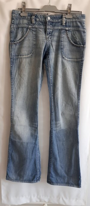 Meltin Pot Jeans taille basse bleu azur