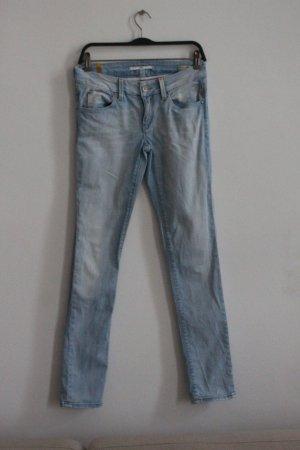 Meltin Pot pantalón de cintura baja azul celeste Algodón