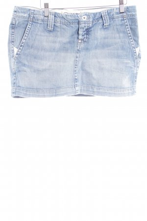 Meltin Pot Jeansrock hellblau Used-Optik