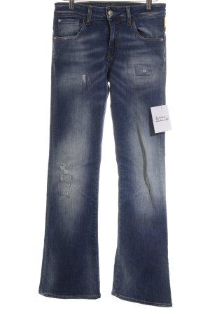 Meltin Pot Jeansschlaghose blau Street-Fashion-Look