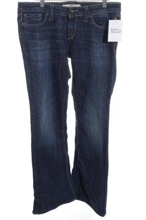 Meltin Pot Jeansschlaghose dunkelblau Used-Optik