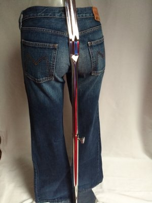Meltin Pot Jeans a zampa d'elefante blu scuro
