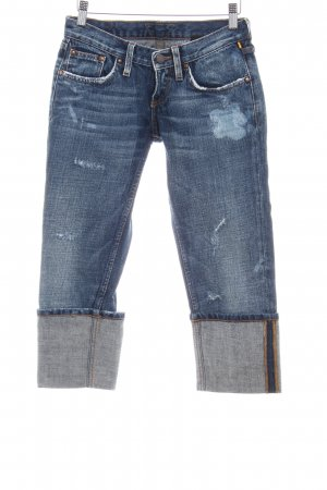Meltin Pot Skinny Jeans dunkelblau Destroy-Optik