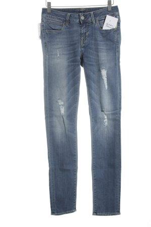 Meltin Pot Skinny Jeans stahlblau Street-Fashion-Look