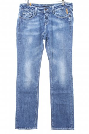Meltin Pot Slim Jeans blau Used-Optik