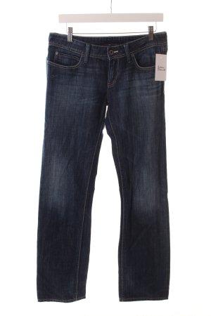 Meltin Pot Slim Jeans dunkelblau-stahlblau Washed-Optik