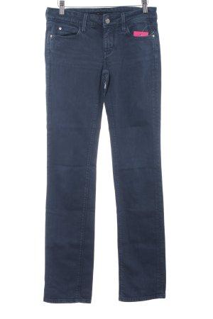 Meltin Pot Straight-Leg Jeans graublau Schriftzug gestickt Casual-Look