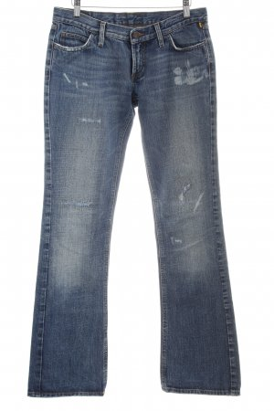 Meltin Pot Straight-Leg Jeans stahlblau Used-Optik