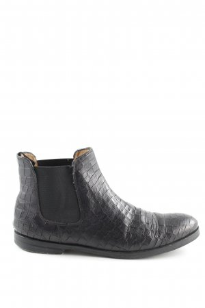 Melvin & hamilton Ankle Boots schwarz Animalmuster Animal-Look