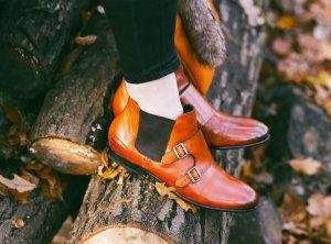 Melvin & hamilton Chelsea Boots cognac-braun Boyfriend-Look