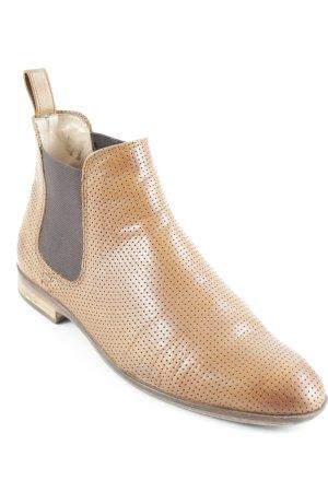 Melvin & hamilton Chelsea Boot cognac-brun foncé motif de tache