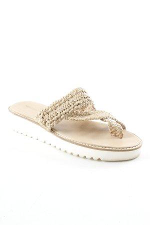 Melvin & hamilton Flip Flop Sandalen beige-creme Casual-Look
