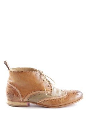 Melvin & hamilton Stivaletto buskin marrone-bianco sporco stile classico