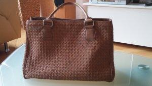 Melvin & hamilton Handbag grey brown-sand brown leather