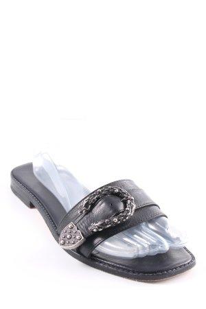 Melvin & hamilton Riemchen-Sandalen schwarz schlichter Stil