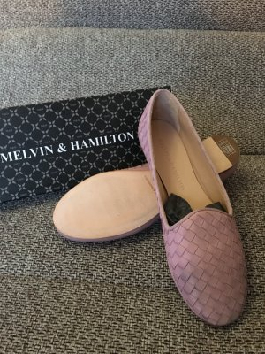 Melvin & Hamilton rosa ungetragen Ballerina schuh